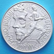 Финляндия 100 марок 1997 год. Пааво Нурми. Серебро