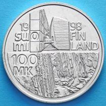 Финляндия 100 марок 1998 год. Алвар Аалто. Серебро
