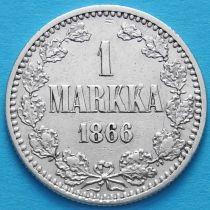 Финляндия 1 марка 1866 год. Серебро.