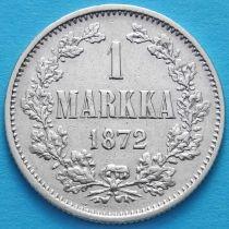 Финляндия 1 марка 1872 год. Серебро.