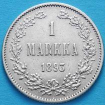 Финляндия 1 марка 1893 год. Серебро.