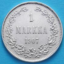 Финляндия 1 марка 1907 год. Серебро.