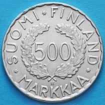 Финляндия 500 марок 1952 год. Олимпиада. Серебро.