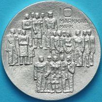 Финляндия 10 марок 1977 год. 60 лет независимости. Серебро.