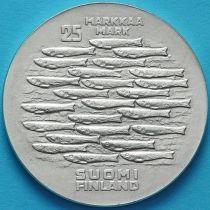 Финляндия 25 марок 1979 год. 750 лет Турку. Серебро.
