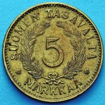 Финляндия 5 марок 1949 год.