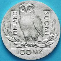 Финляндия 100 марок 1990 год. 350 лет Хельсинкскому университету. Серебро.
