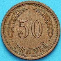 Финляндия 50 пенни 1943 год. Медь