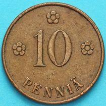 Финляндия 10 пенни 1921 год.