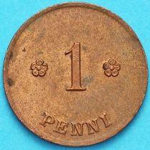 Финляндия 1 пенни 1919 год.