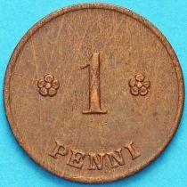 Финляндия 1 пенни 1921 год.
