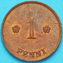 Финляндия 1 пенни 1922 год.