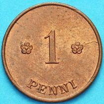 Финляндия 1 пенни 1923 год.