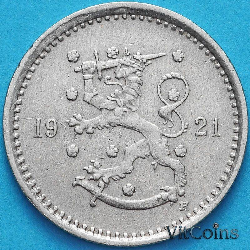Монета Финляндия 50 пенни 1921 год. Н