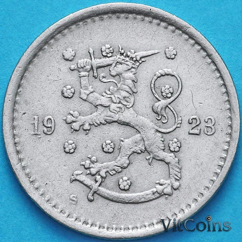 Монета Финляндия 50 пенни 1923 год. S