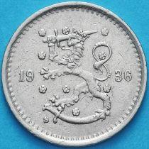 Финляндия 50 пенни 1936 год. S