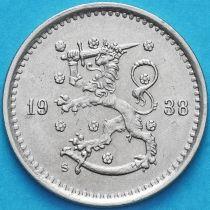 Финляндия 50 пенни 1938 год. S