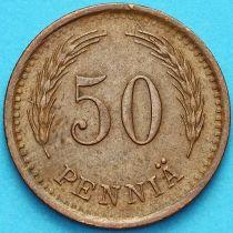 Финляндия 50 пенни 1942 год. Медь