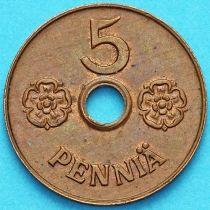 Финляндия 5 пенни 1941 год.