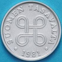 Финляндия 5 пенни 1981 год.