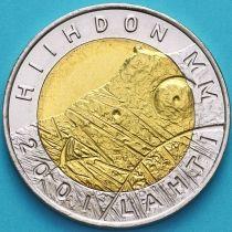 Финляндия 25 марок 2001 год. ЧМ по лыжным видам спорта.