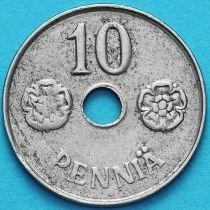 Финляндия 10 пенни 1943 год.