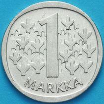 Финляндия 1 марка 1966 год. Серебро.