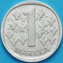 Финляндия 1 марка 1967 год. Серебро.