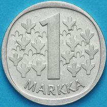 Финляндия 1 марка 1968 год. Серебро.