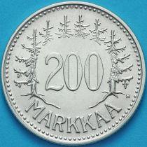 Финляндия 200 марок 1956 год. Серебро.