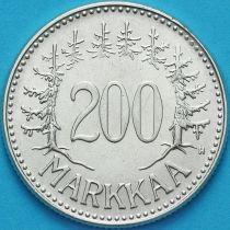 Финляндия 200 марок 1957 год. Серебро.