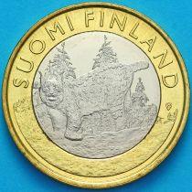 Финляндия 5 евро 2015 год. Рысь.
