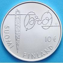 Финляндия 10 евро 2010 г. Минна Кант. Серебро
