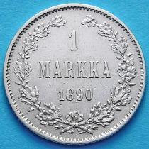 Финляндия 1 марка 1890 год. Серебро.