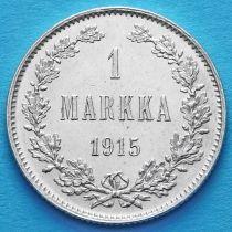 Финляндия 1 марка 1915 год. Серебро.