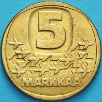 Финляндия 5 марок 1984 год. Ледокол Урхо.