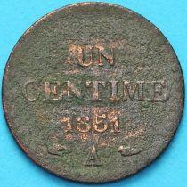 Франция 1 сантим 1851 год.