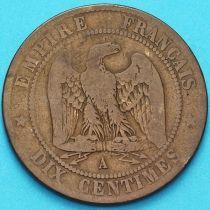Франция 5 сантимов 1863 год. Монетный двор Париж. №2