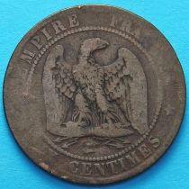 Франция 10 сантимов 1861 год. Монетный двор Бордо.