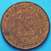 Франция 10 сантимов 1855 год. Монетный двор Лилль.