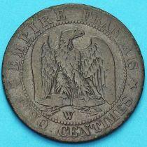 Франция 5 сантимов 1854 год. Монетный двор Лилль.