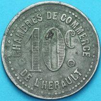 Франция 10 сантимов. Токен Торговой палаты города Эро.