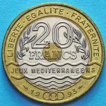 Франция 20 франков 1993 год. Средиземноморские Игры.