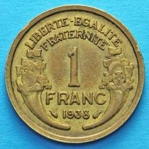 Франция 1 франк 1931 - 1941 год.