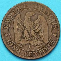 Франция 5 сантимов 1863 год. Монетный двор Париж.