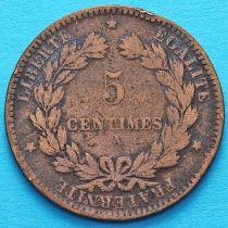 Франция 5 сантимов 1872 год. Монетный двор Париж.