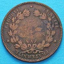 Франция 5 сантимов 1885 год. Монетный двор Париж.