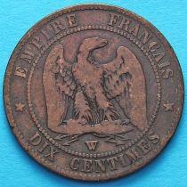 Франция 10 сантимов 1856 год. Монетный двор Лилль.