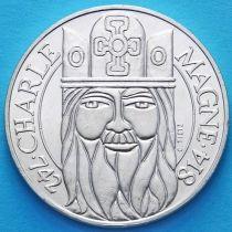 Франция 100 франков 1990 год. Карл Великий. Серебро