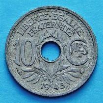 Франция 10 сантимов 1945 год.